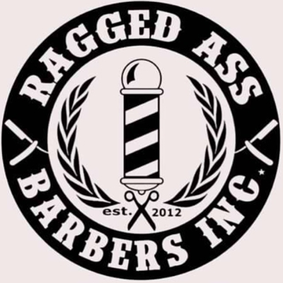 Ragged Ass Barbers logo