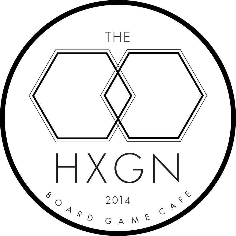The Hexagon Board Game Cafe logo